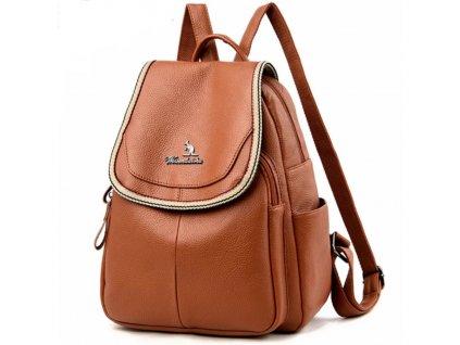 Luxusní dámský elegantní kožený batoh