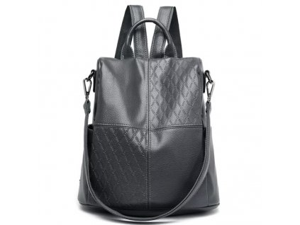 Dámský kožený batoh černý