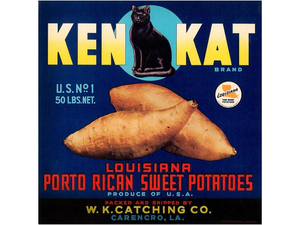 800 50x50cm vintage produce posters advertising ken kat