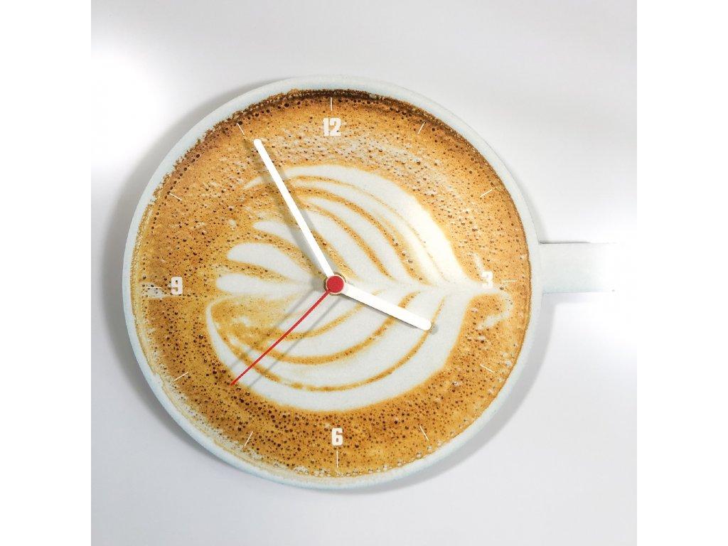 Nástěnné hodiny Coffee Cappuccino