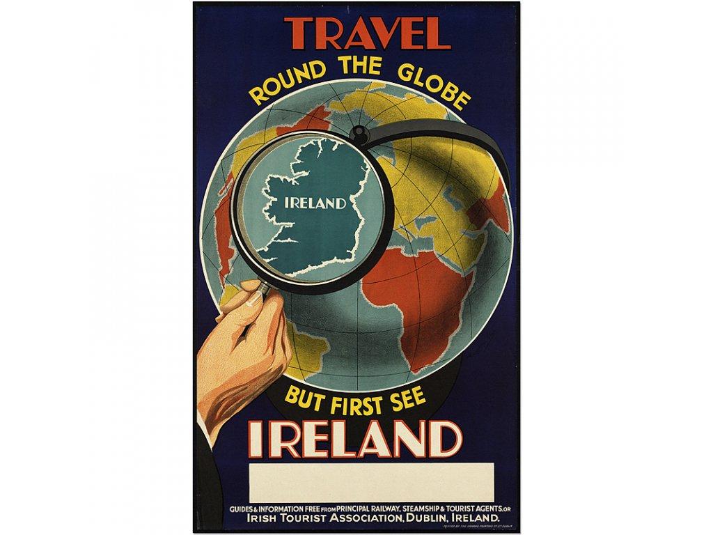 800 50x81cm Travel round the globe see ireland vintage travel poster