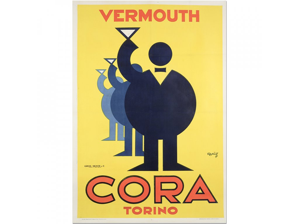 800 55x80cm cora vermouth torina vtinage drink advertising poster