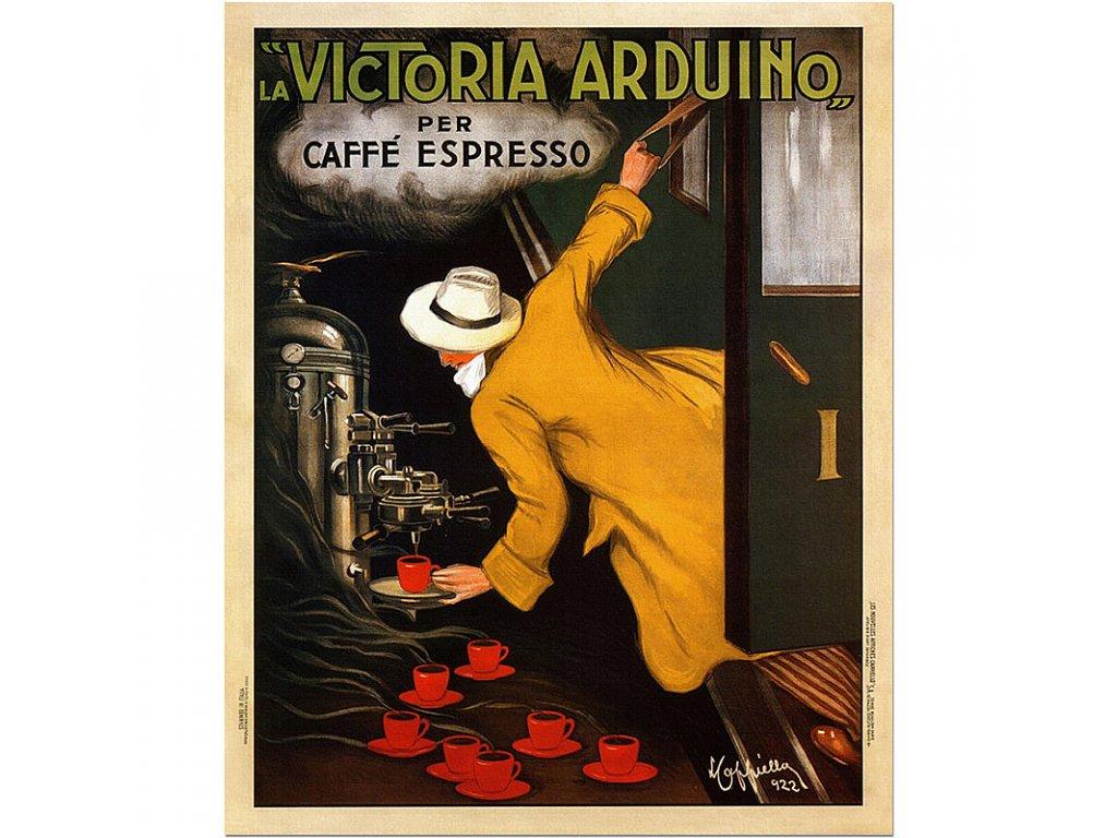800 60x75cm Victoria Arduino 1922 vintage coffee food drink poster