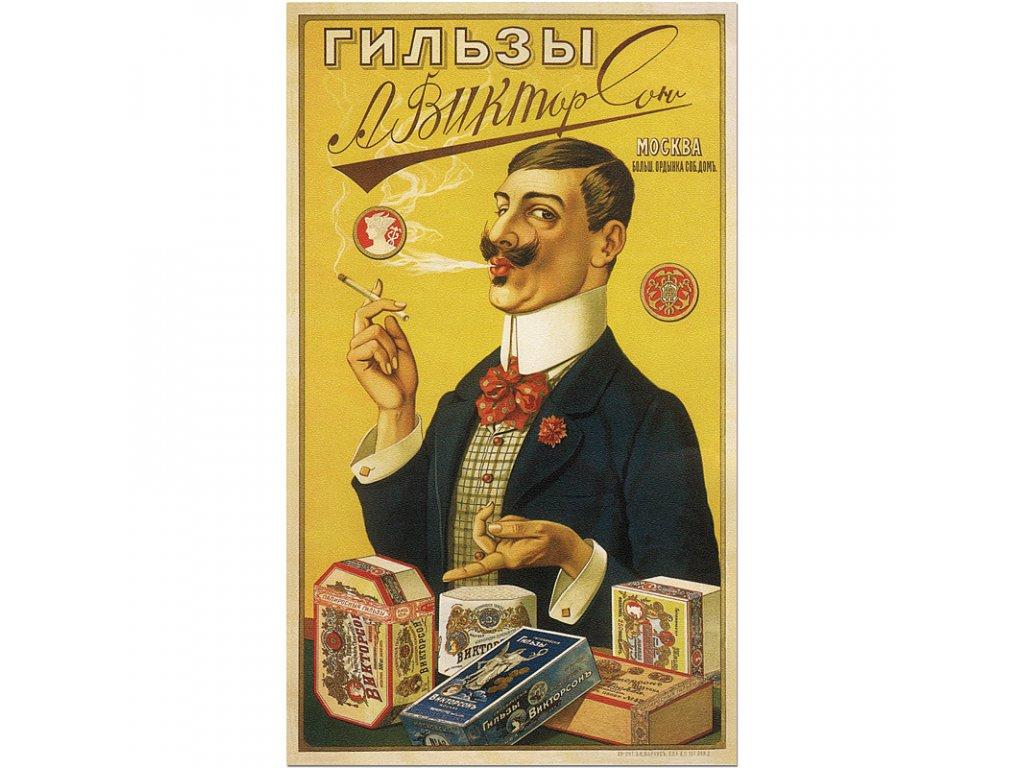 800 60x101cm A Viktorsons Cigarette Papers vintage tobacco advertising poster