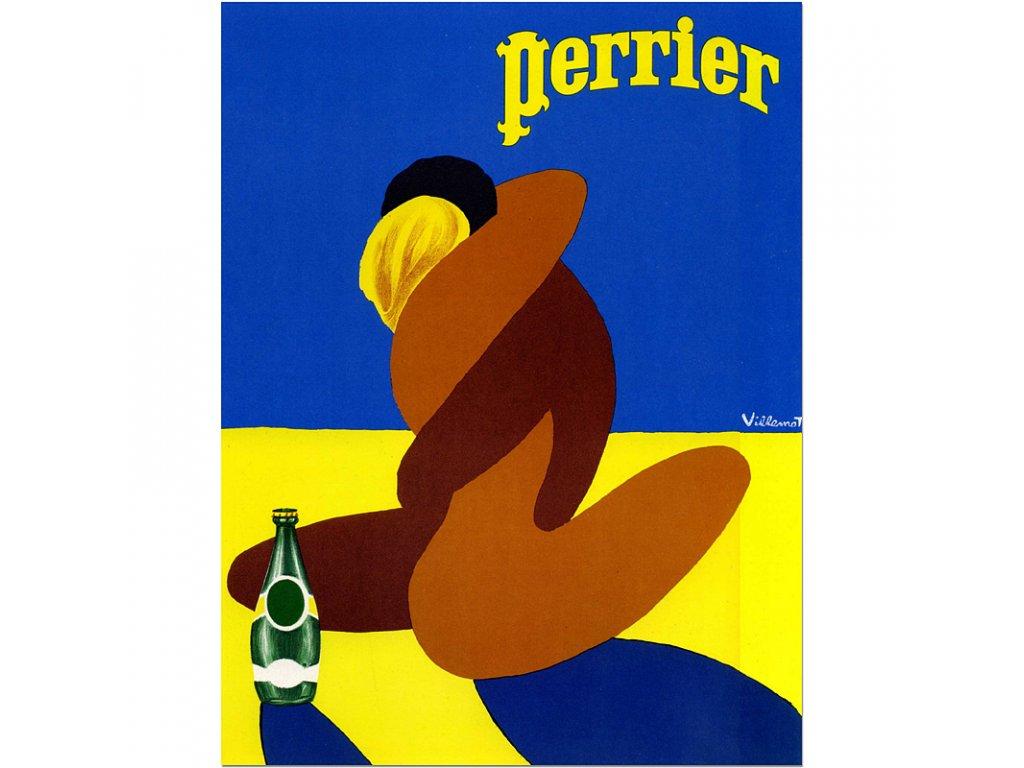800 70x92cm perrier vintage advertising poster
