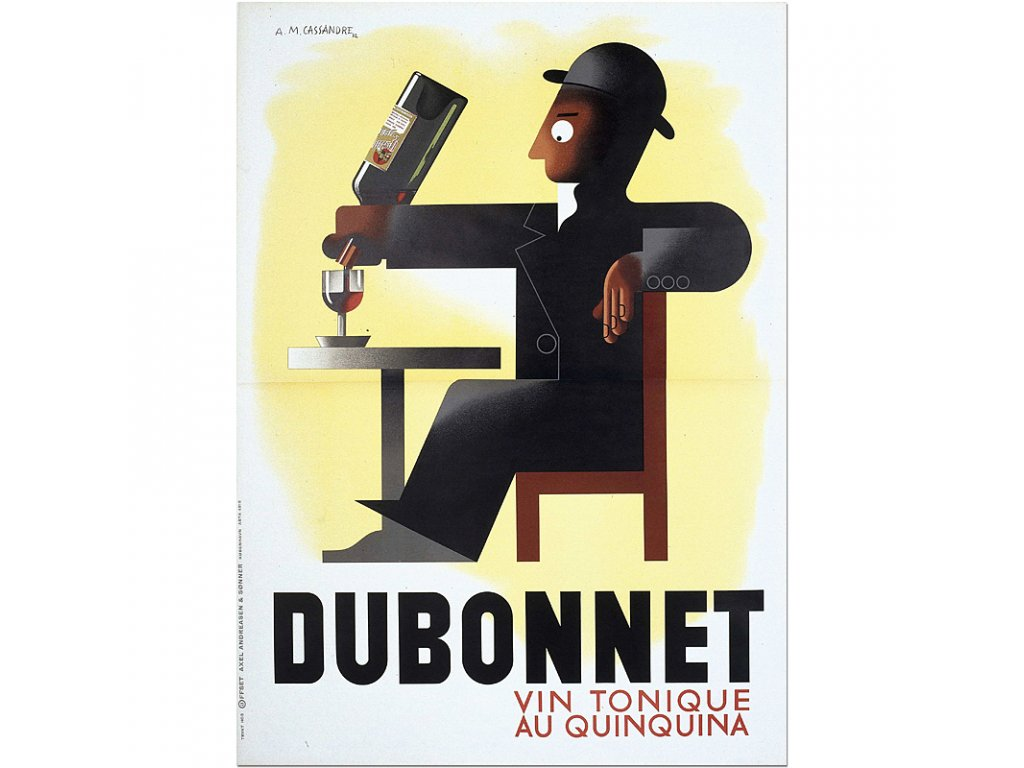 800 75x104cm Am cassandre Dubonnet vintage french advertising poster