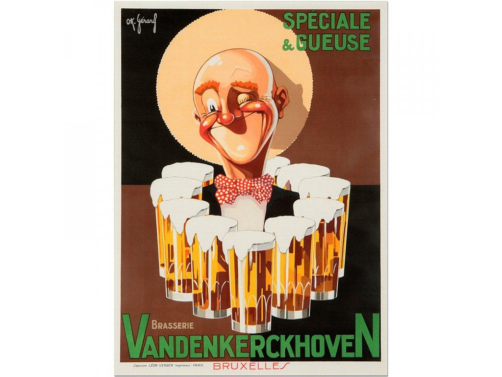 800 80x110cm Vandenkerckhoven ok gerard vintage beer poster