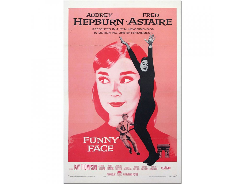 800 80x124cm funny face vintage classic movie poster