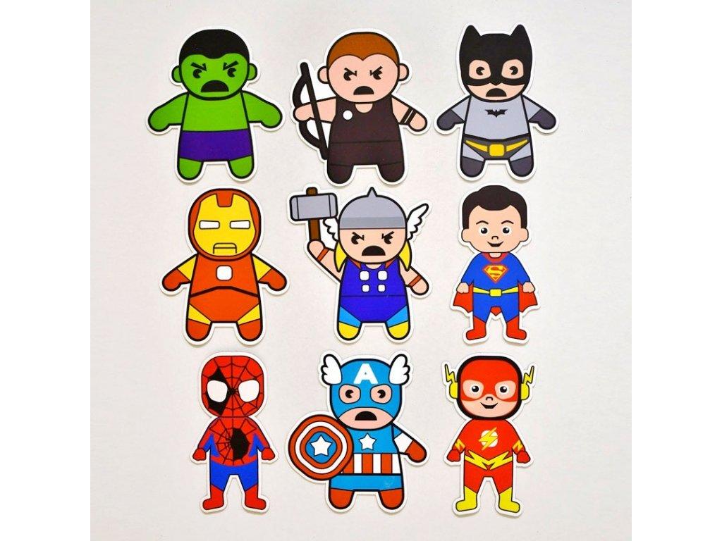 "Magnetky pro děti ""SUPERHEROES"" 10x8cm, sada 9ks"