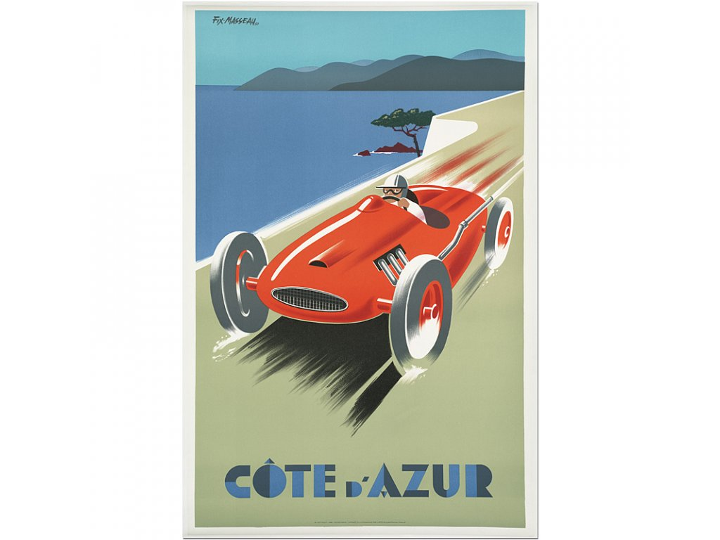 800 25x37cm Cote d azur french rivera vintage travel poster