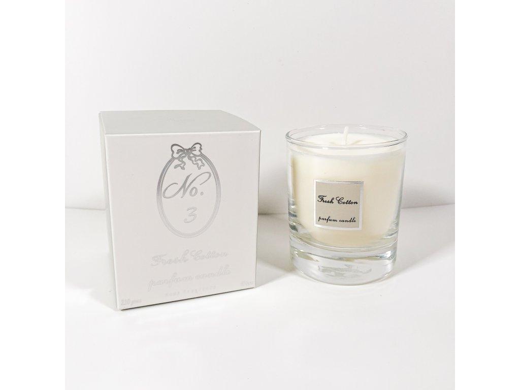 Vonná svíčka Fresh Cotton No. 3