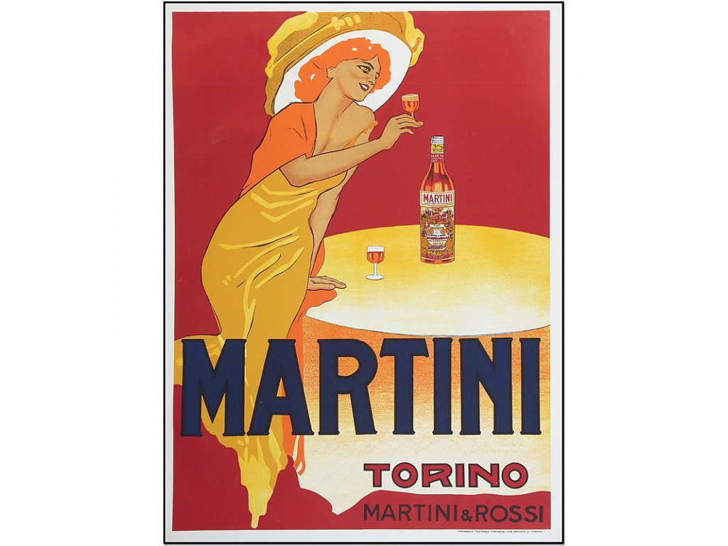 800 35x47cm martini rossi torino vintage advertising poster Marcello Dudovich