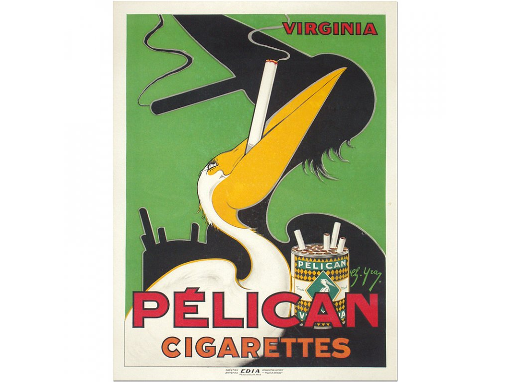 800 35x47cm pelican cigarettes