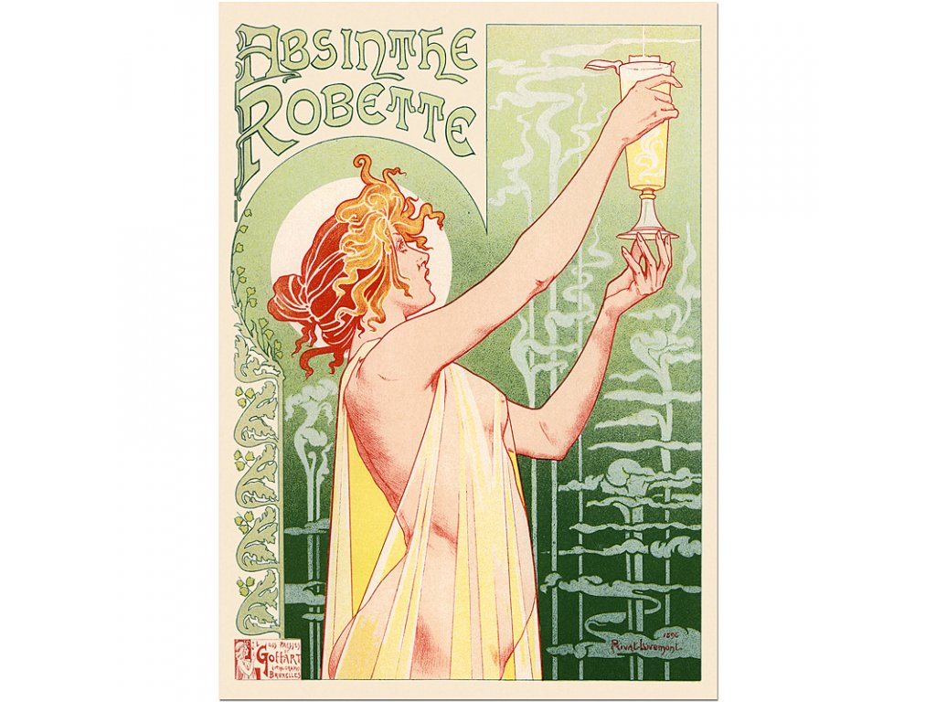 800 40x56cm Absinthe robette vintage food drinks poster