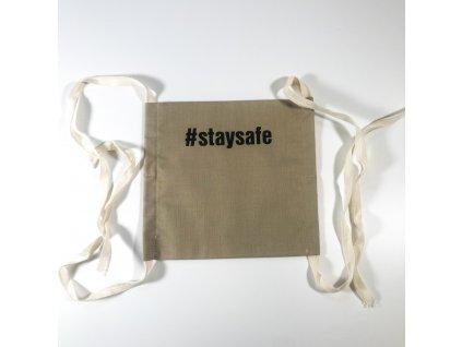 Látková rouška béžová - #staysafe
