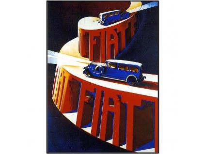 800 25x34cm Fiat vintage advertising poster