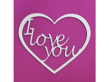 Vyřezávané srdce - I love you