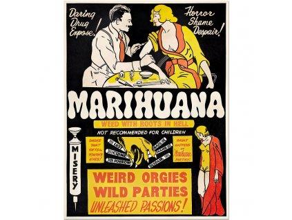 800 35x46cm Anti marijuanna vintage poster funny
