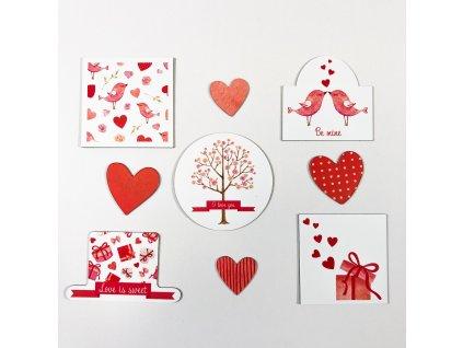 Sada magnetek Valentýn - EN verze