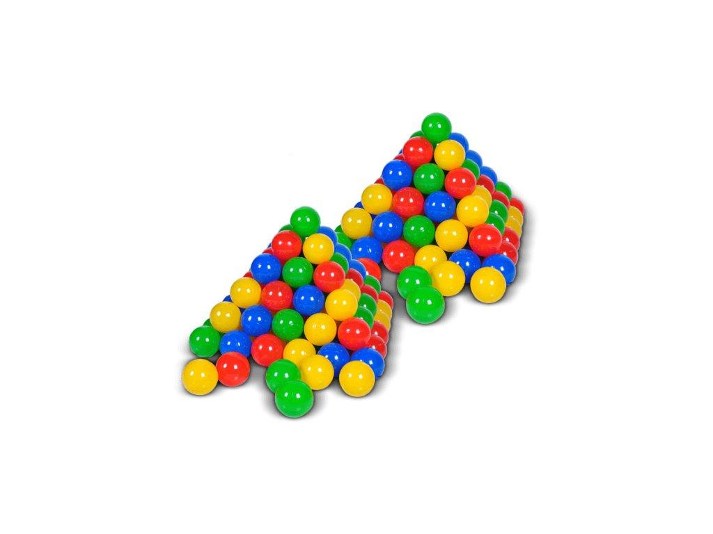 Plastové míčky barevné