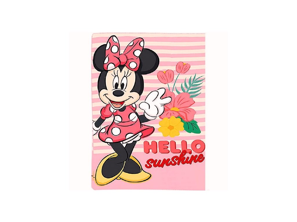 Fleece deka Minnie Mouse