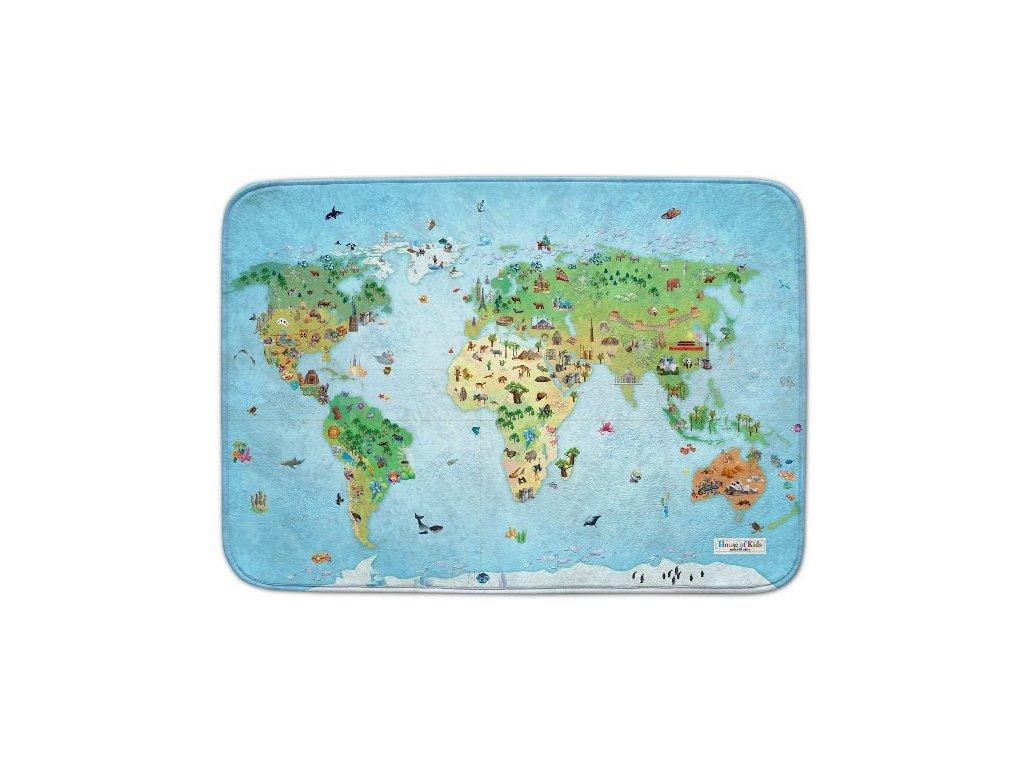 Hrací koberec Ultra Soft Mapa světa