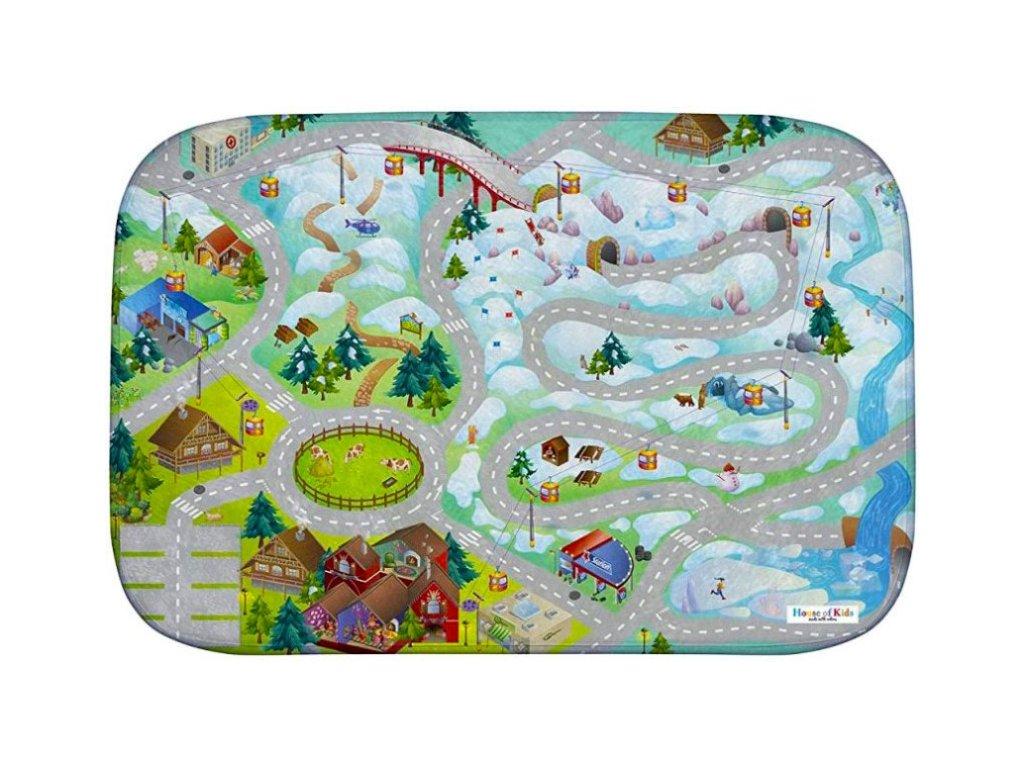 Hrací koberec Ultra Soft Horská silnice
