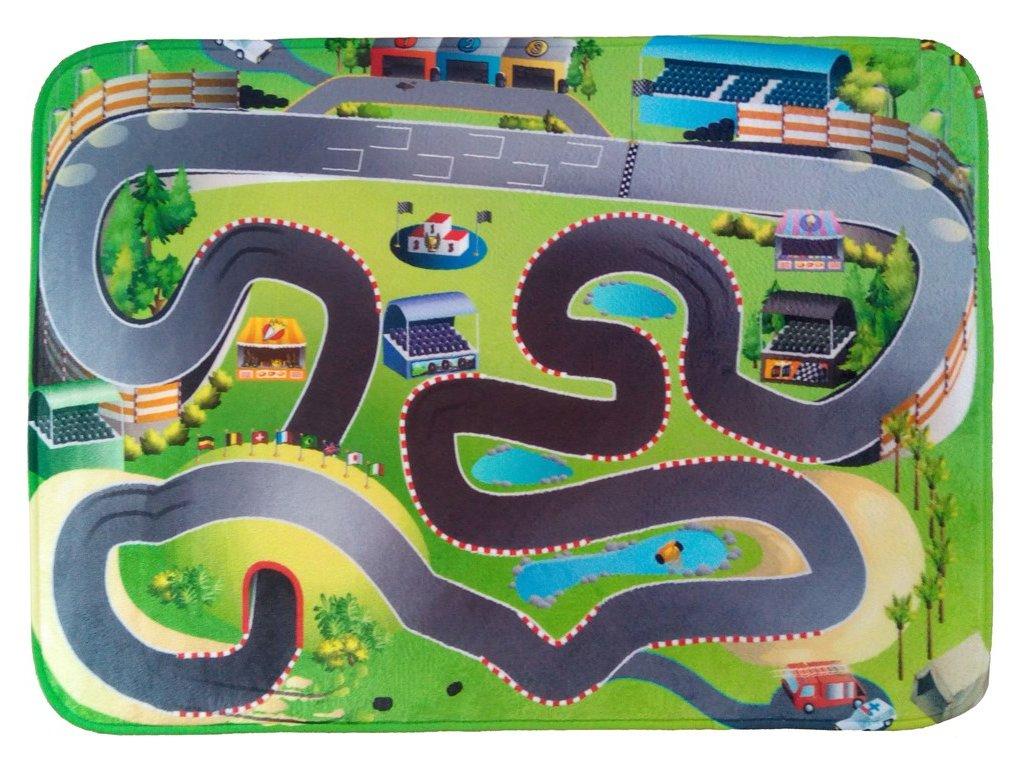 Hrací koberec Ultra Soft Závodní dráha