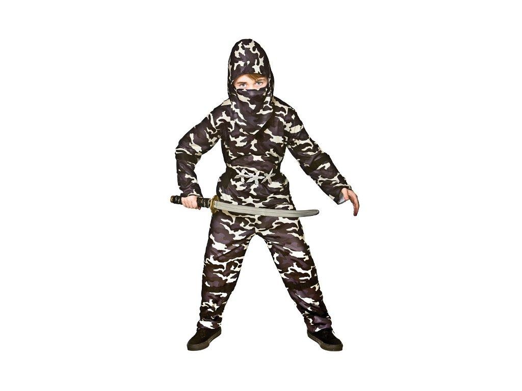 Dětský kostým ninja maskovaný