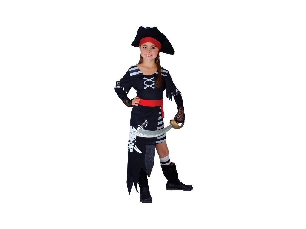 Dětský kostým pirátka pirátská princezna