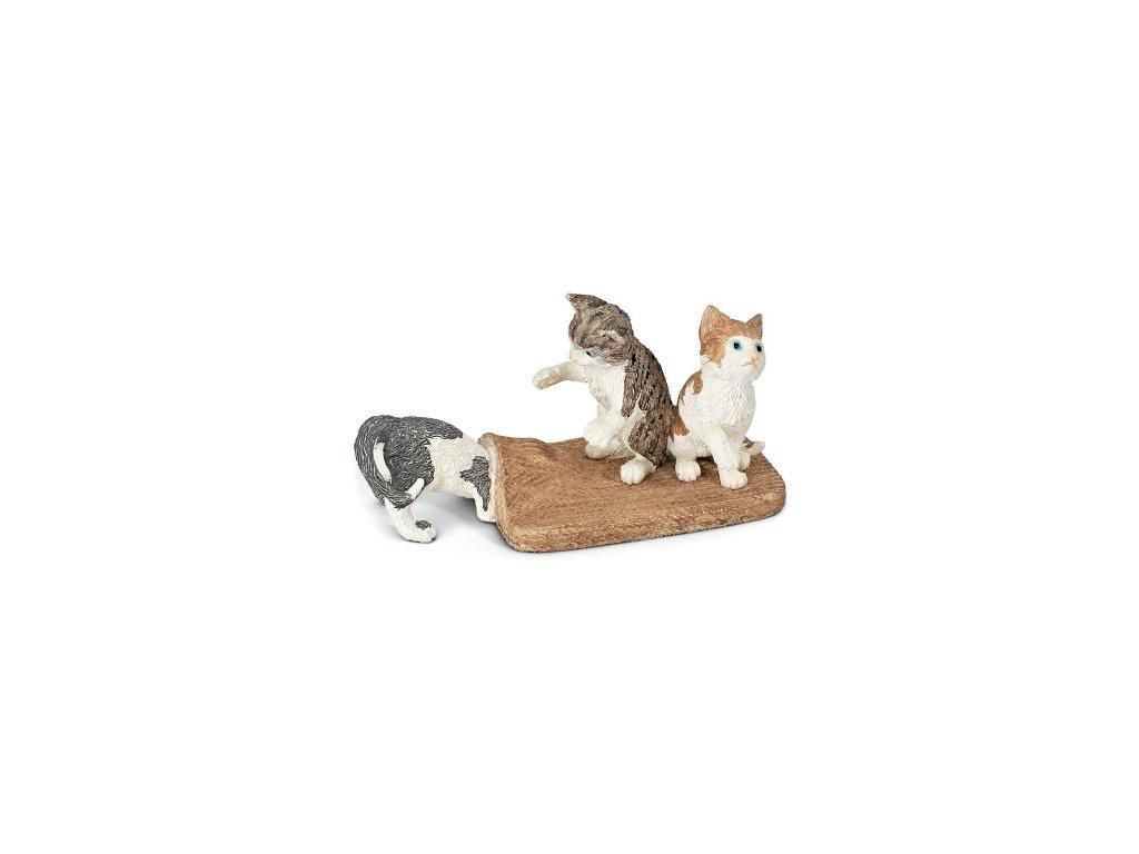 Schleich Koťata hrající si pod kobercem