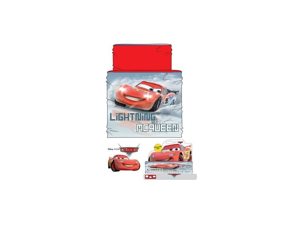 Šála Cars   nákrčník Cars II červený zateplený  0a9f8042be