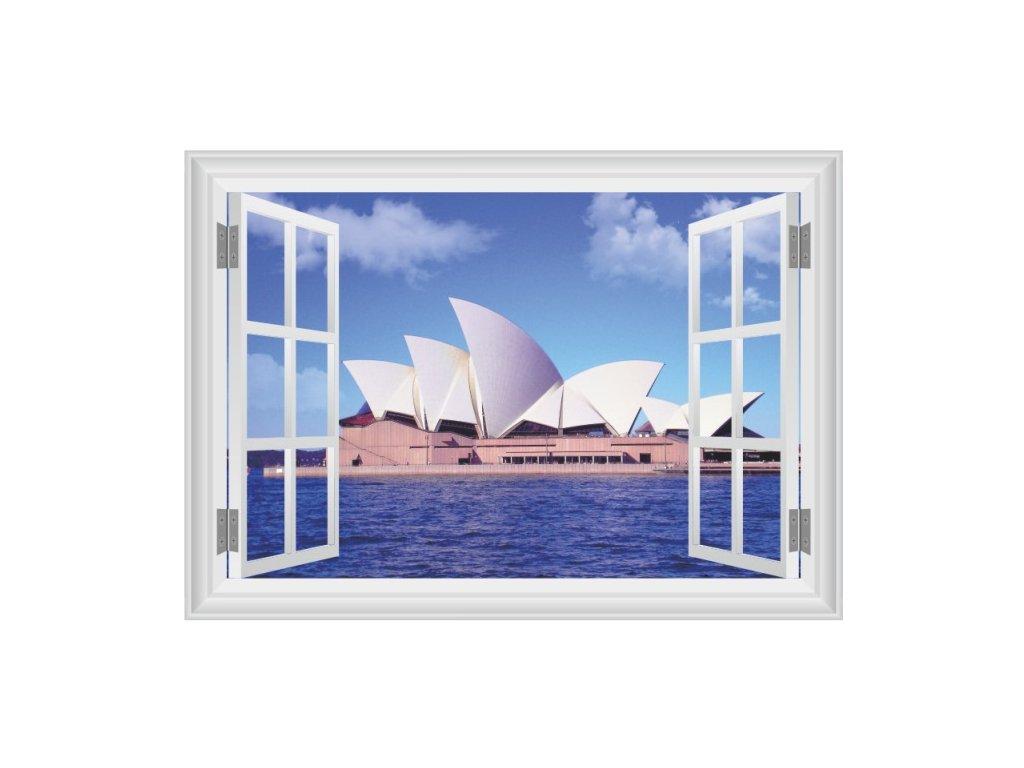 3D samolepka na zeď okno Opera v Sydney