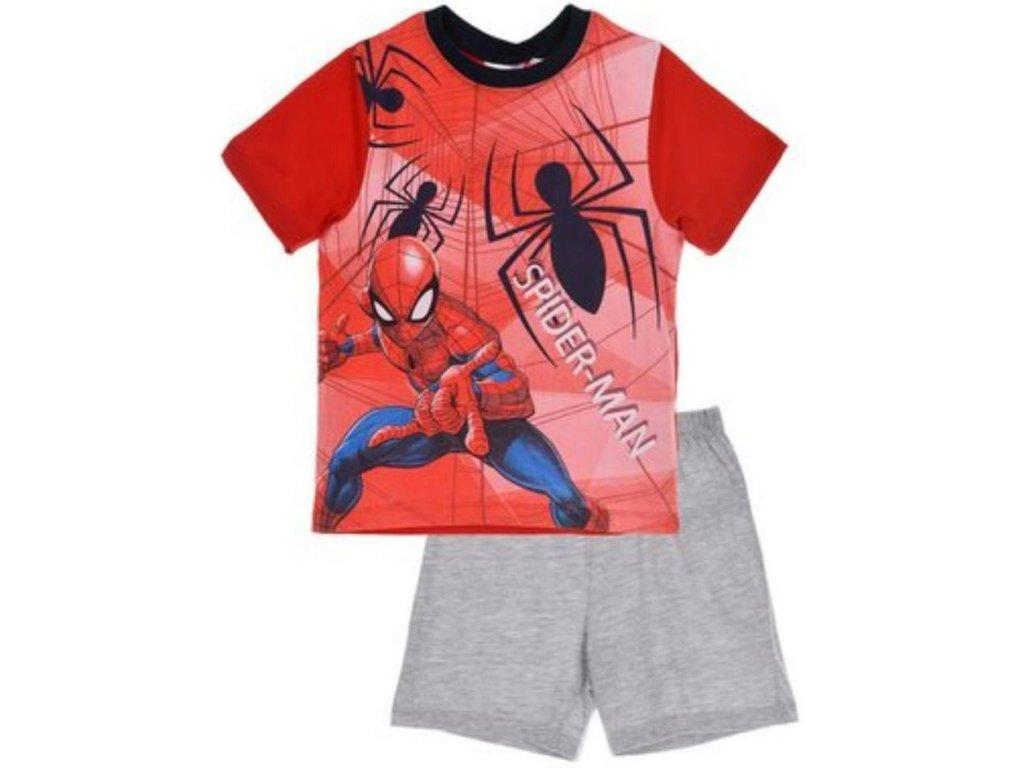 Dětské pyžamo Spiderman bavlna červené  6e87f17ee07