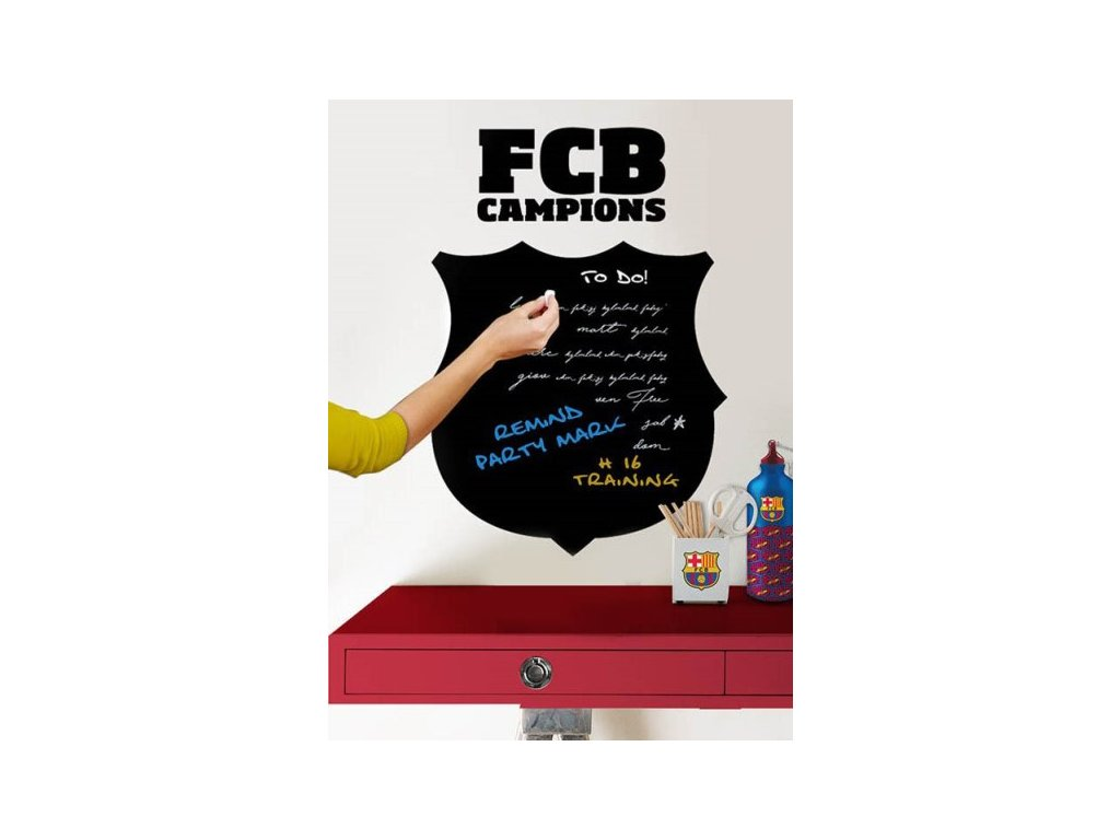 Samolepka na zeď tabule FC Barcelona