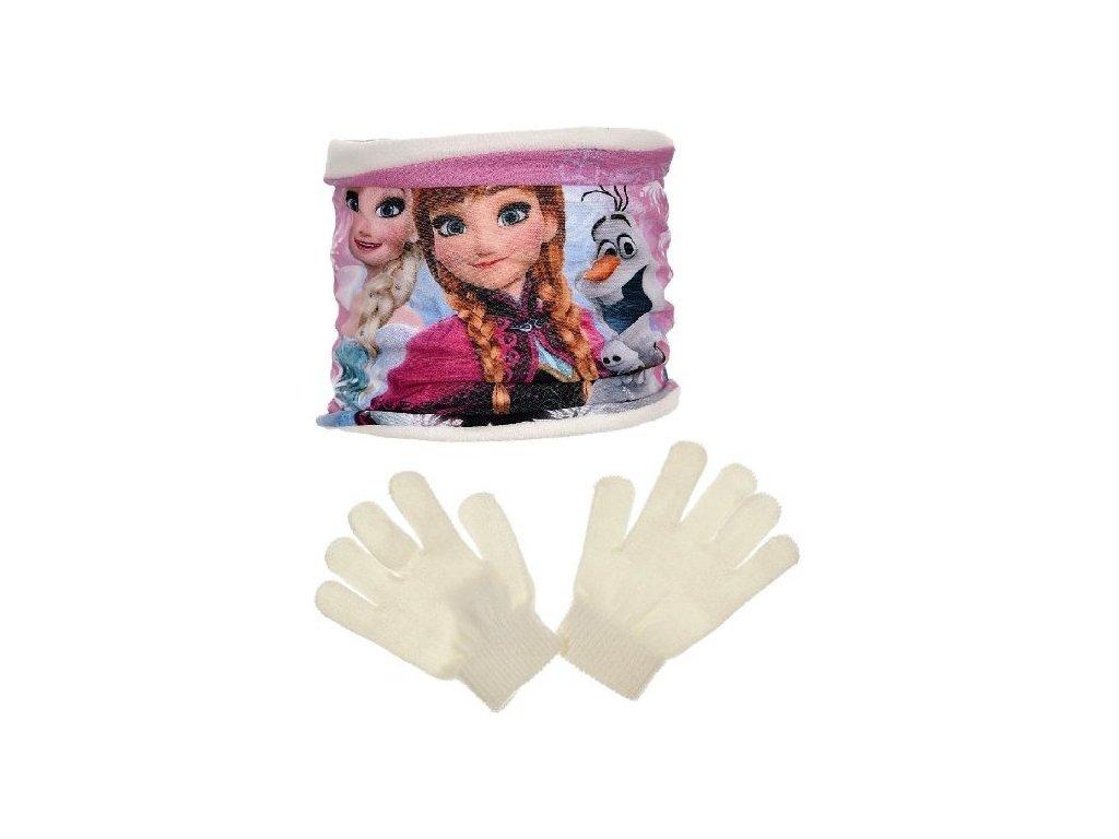 Šála nákrčník rukavice Frozen