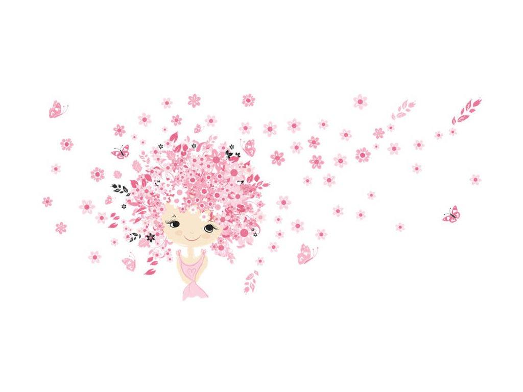 Samolepka na zeď květinová víla