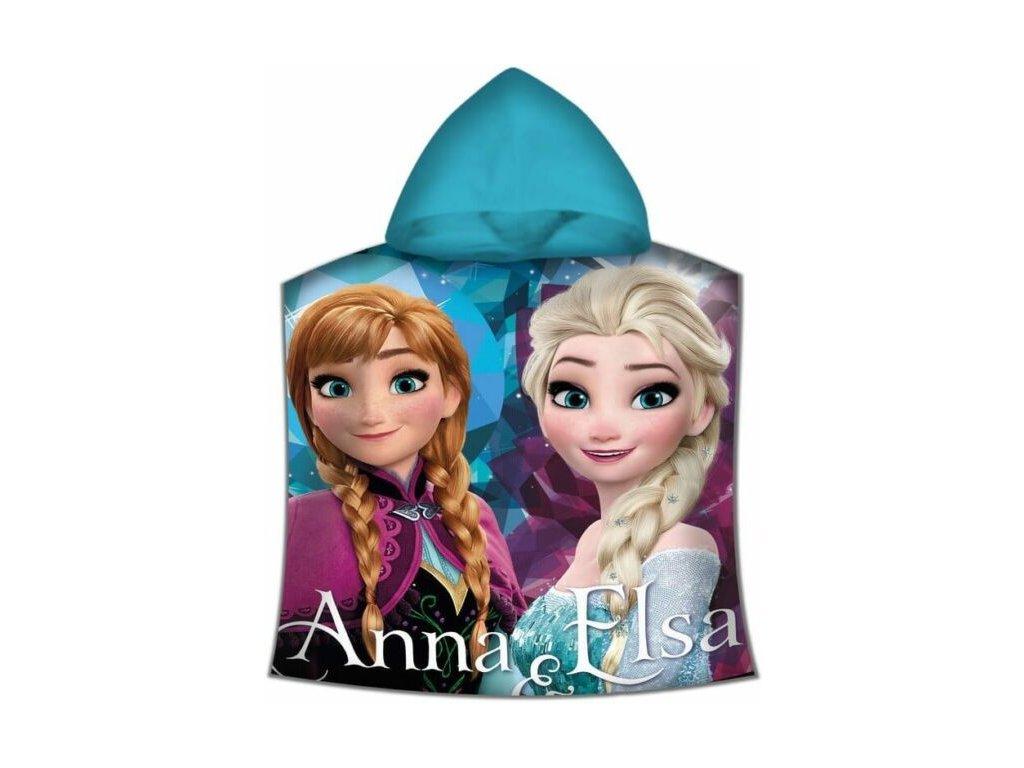 Pončo Frozen s kapucí