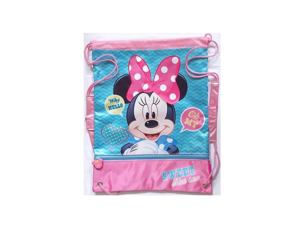 Sáček na přezůvky batůžek Minnie Mouse