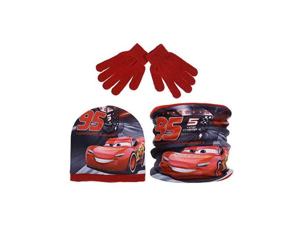 čepice, nákrčník, rukavice Cars