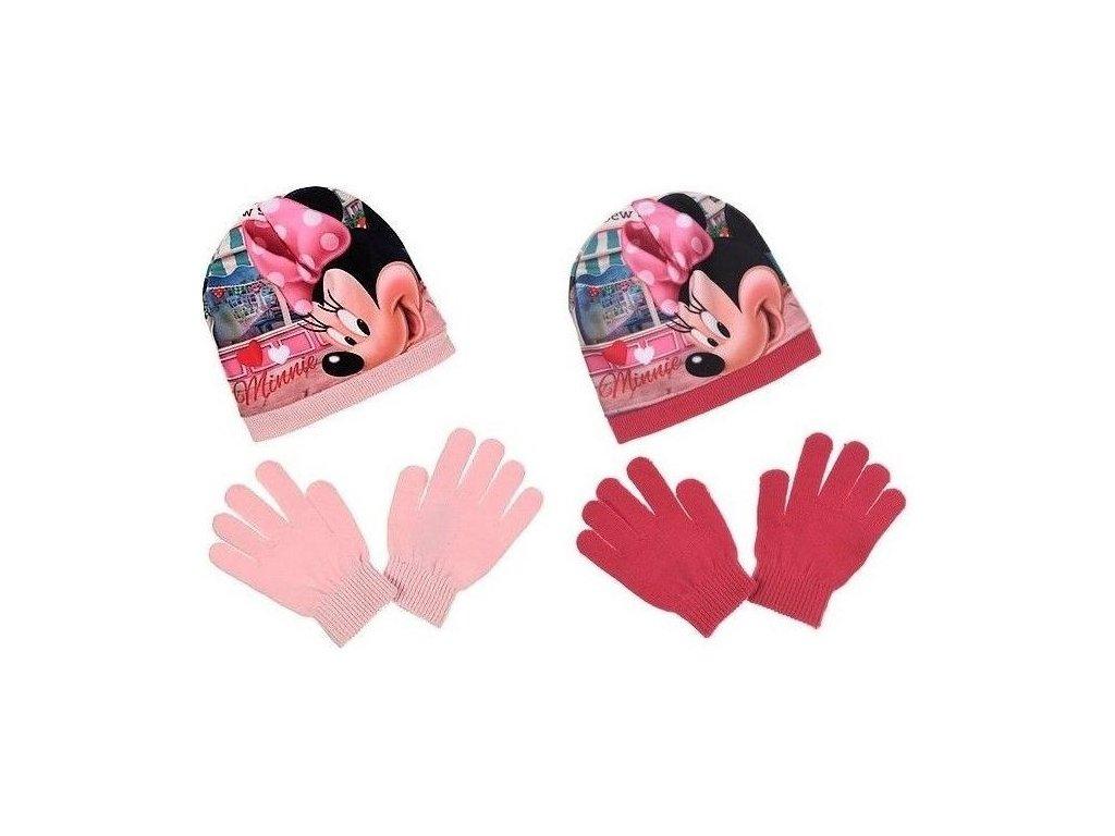 Čepice rukavice Minnie Mouse