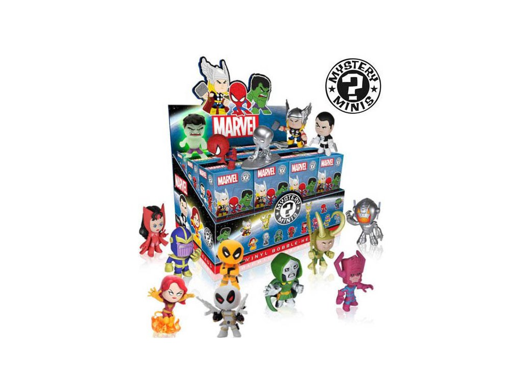 Marvel minies figurky - krabička s překvapením