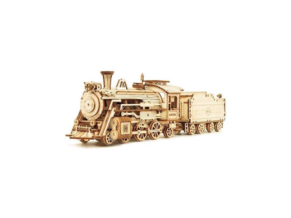 3D dřevěné puzzle Parní lokomotiva Prime Steam Express