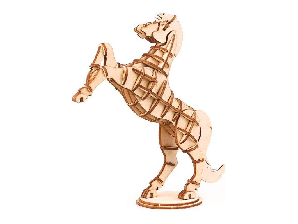 3D puzzle dřevěný kůň