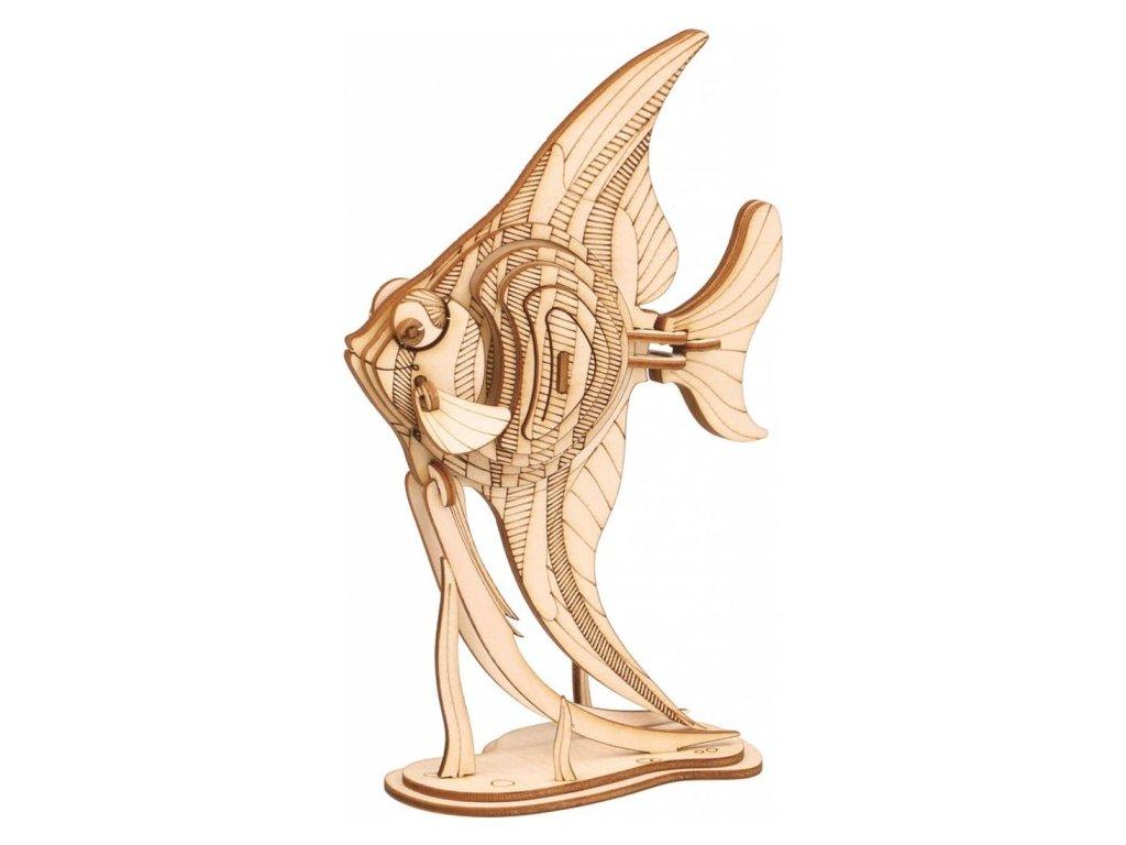 3D puzzle dřevěný andělská ryba