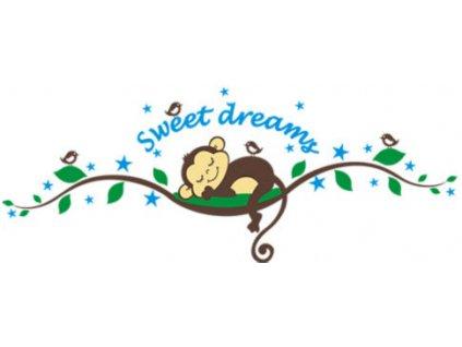 Samolepka na zeď opička Sweet dreams