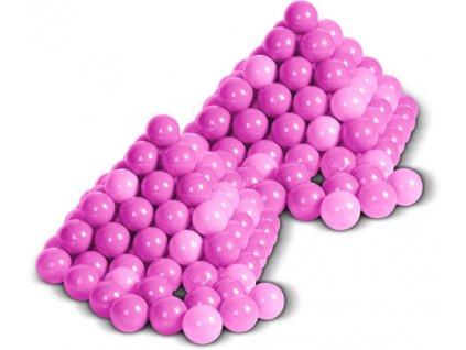Plastové míčky růžové
