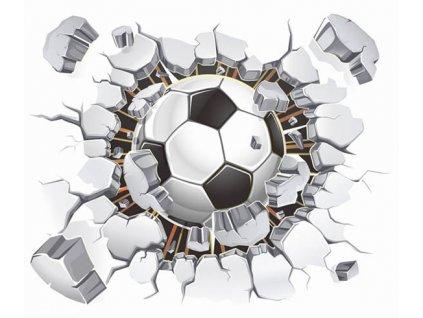 3D Samolepka na zeď fotbalový míč