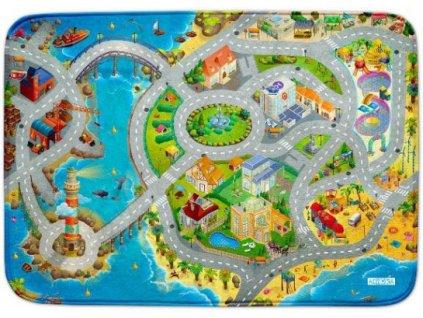Hrací koberec Ultra Soft Město s pláží
