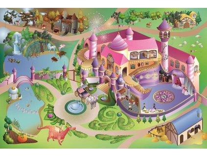 Hrací koberec Zámek princezna